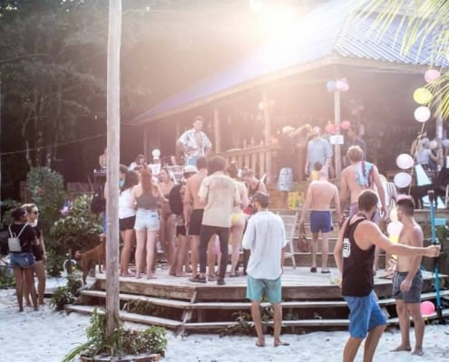 Top rated Hostel Koh Rong Island Cambodia, Nest Beach Club