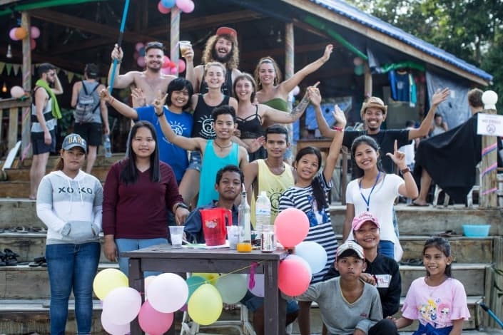 Nest Beach Club, Hostel Koh Rong, Cambodia, Party