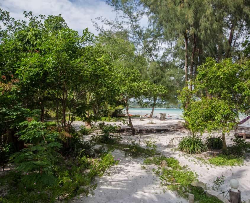 cambodia holidays, hostel & Restaurant, koh rong, nest beach club, 4k beach