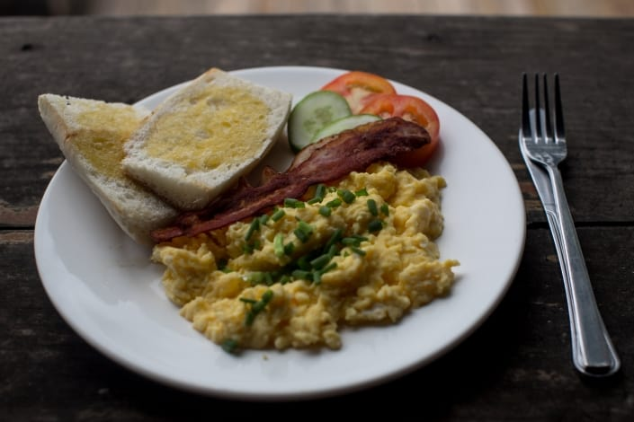 hostel & Restaurant in cambodia, koh rong, breakfast at nest