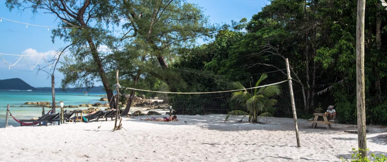 Nest Beach Club, garden, hostel koh rong